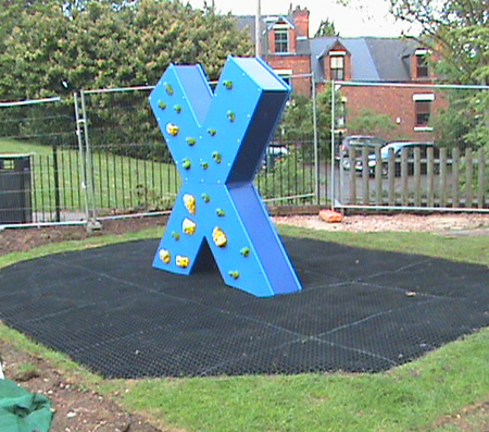 Rubber Play Surfaces Installed For Playground Flooring