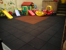 Rubber Crumb Tiles in a Nursery