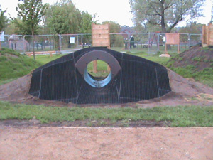 Grass Mat Matting for Play Areas over a Tunnel
