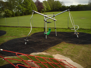 Grass Mat Matting for Play Areas in a Playground