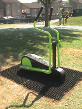 Grass Mat Play Surface around Gym Equipment