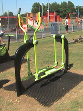 Grass Mat Matting for Play Areas around Gym Equipment