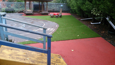 Wet Pour Rubber Matting for Play Areas in a School