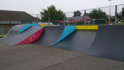 Painted Metal Skate Park